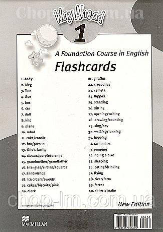 New Way Ahead 1 Flashcards (набор карточек, наглядные пособия к курсу 1), фото 2