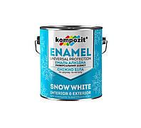 Эмаль алкидная снежно-белая kompozit