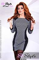 Трикотажное мини платье 4538