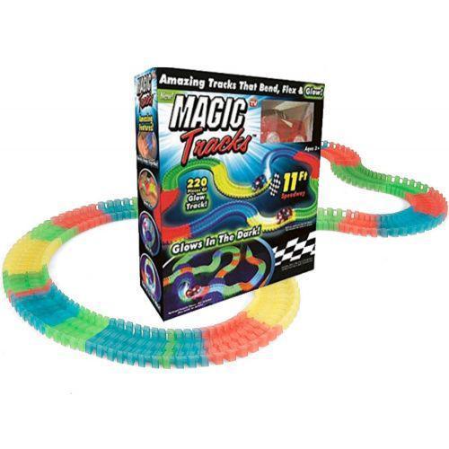 Гоночная трасса конструктор Magic Tracks 220 деталей FYD170205-B