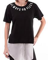 Женская футболка-обманка с надписью