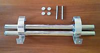 Ручка прямая 500 мм хром, кронштейн хром., фото 1