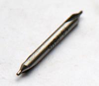 Сверло центровочное 2,0 мм, Р6М5, комбинированное, 2-х стороннее