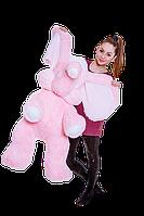 Мягкая игрушка Слон 120 см розовый, голубой