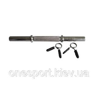 Гриф Stein chrome bar with star BR-003 гантельный (без замков) (код 110-103)
