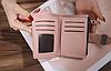 Кошелек розовый женский с фурнитурой на шлевке, фото 2
