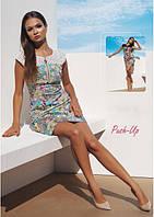Платье с принтом Ora