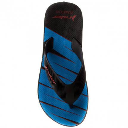 Оригинал Шлепанцы мужские 11073-21188 Rider Strike Plus Black/Blue Черно-Синие, фото 2
