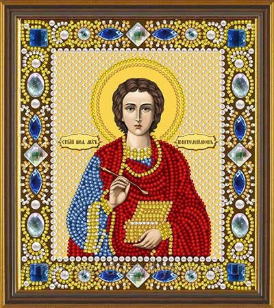 Набор для вышивания бисером икона Святой Пантелеймон Целитель