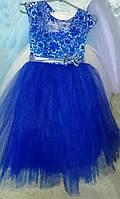 Яркое нарядное выпускное платье на девочку 5-6 лет.