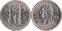 США 25 центов (1 кватер) Вермонт 2001г.
