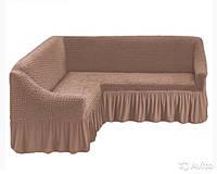 Чехол на угловой диван, Турция с оборкой