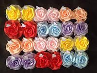 Резинка-Бант Роза с бабочкой цветной (d8см) 24шт/уп