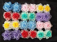 Резинка-Бант Цветок цветной (d8см) 24шт/уп