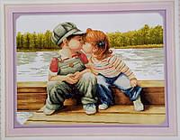 Поцелуй детки Набор для вышивки крестом счетный крест 14ст