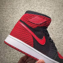 "d37246eb1953a4 Баскетбольные кроссовки Nike Air Jordan 1 Retro Hi Flyknit ""Banned"", фото 2"