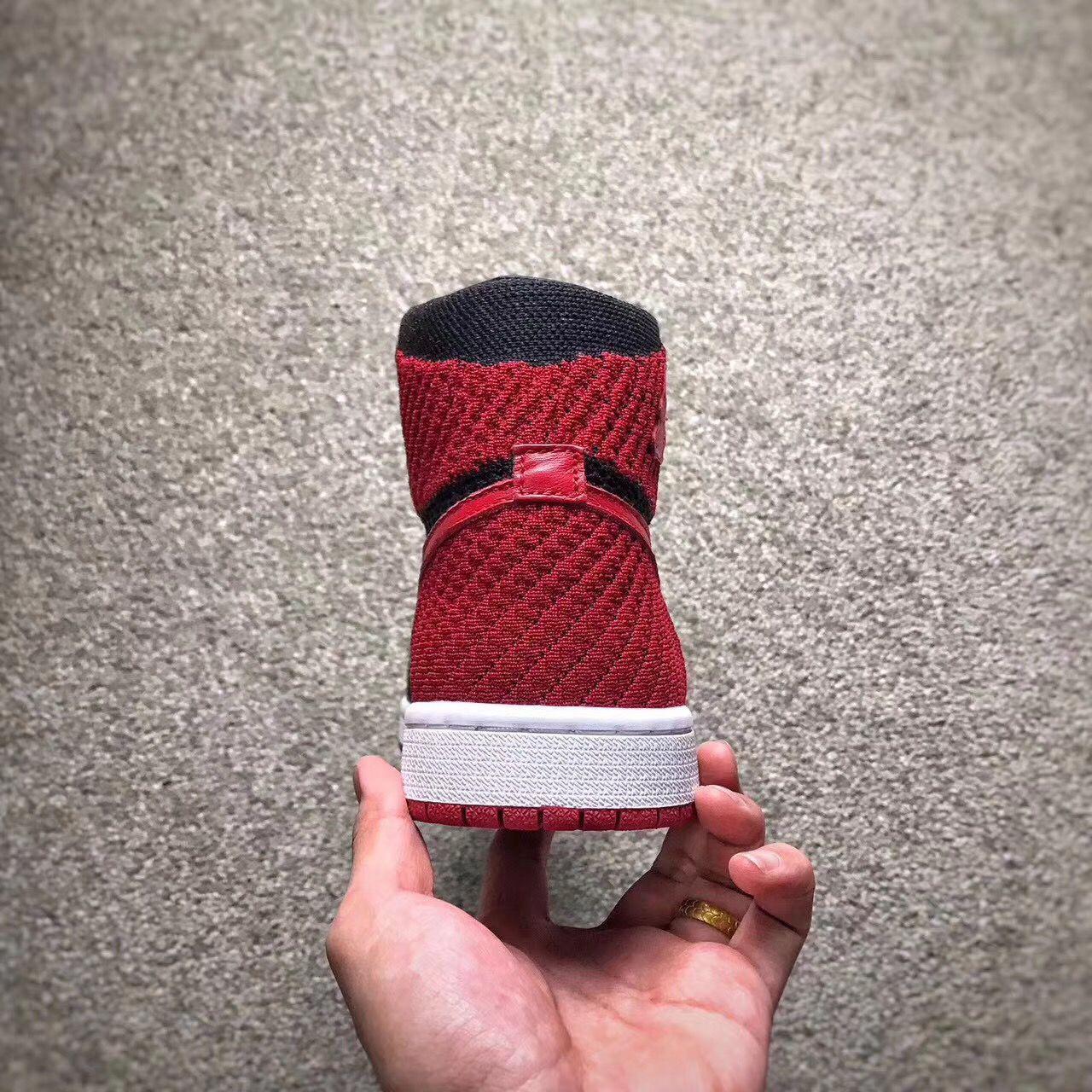 """9fc47daec7aa58 Баскетбольные кроссовки Nike Air Jordan 1 Retro Hi Flyknit """"Banned"""", цена 1  495 грн., купить в Киеве — Prom.ua (ID#690261201)"""
