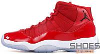 Мужские кроссовки Nike Air Jordan 11 Win Like 96 Retro XI Gym Red 378037-623