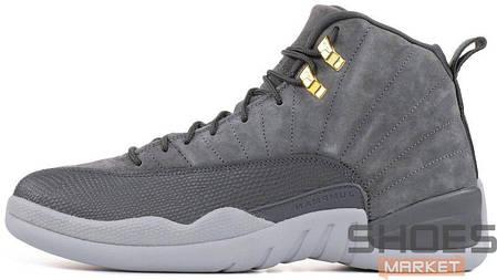 """de4e8655de85 Баскетбольные кроссовки Nike Air Jordan 12 """"Dark Grey"""" купить в ..."""