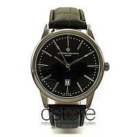 Часы Vacheron Constantin черные с черным циферблатом (07755)