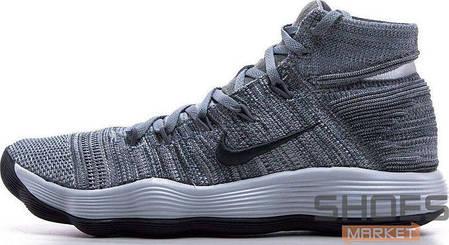"""b56ff3da257b Баскетбольные кроссовки Nike Nike REACT Hyperdunk 2017 Flyknit """"Grey"""" ,  фото 2"""
