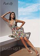 Платье на молнии цветочный принт Ora