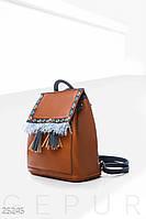 Кожаный рюкзак этно