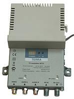 Модулятор телевизионный  Terra MT32 (МВ-ДМВ, моно, однополосный, канал-в-канал)