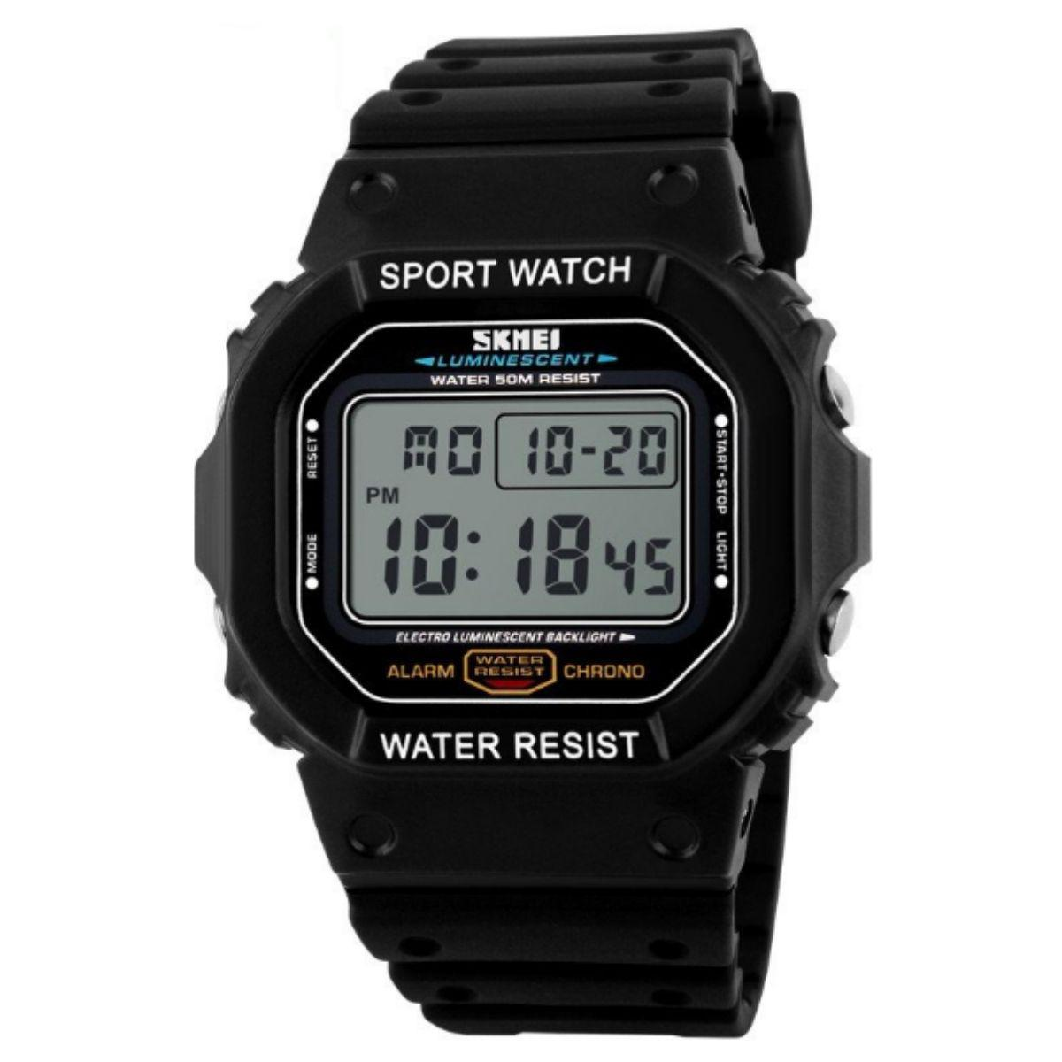 Часы Skmei 1134 BK-White Digital Box