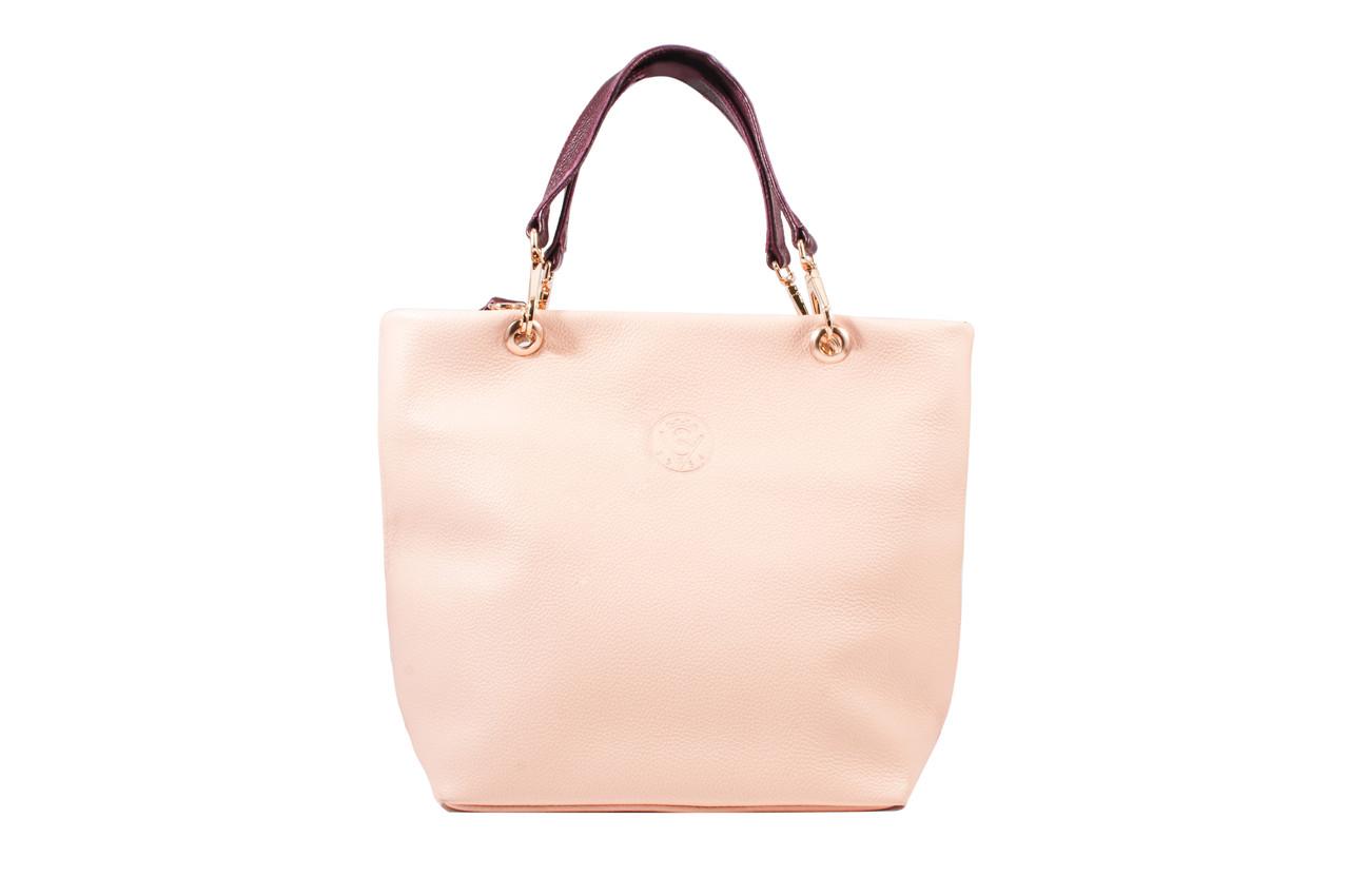 Женская сумка из натуральной кожи пудра