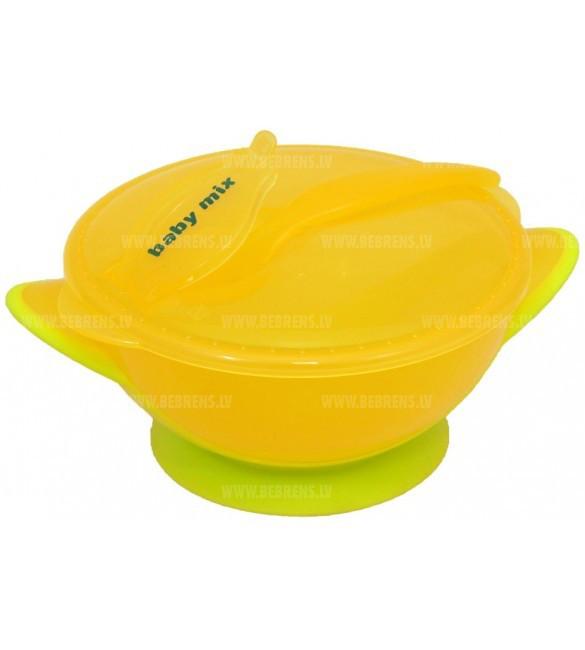 Тарелочка и ложка Baby Mix RA-D2-0611 yellow