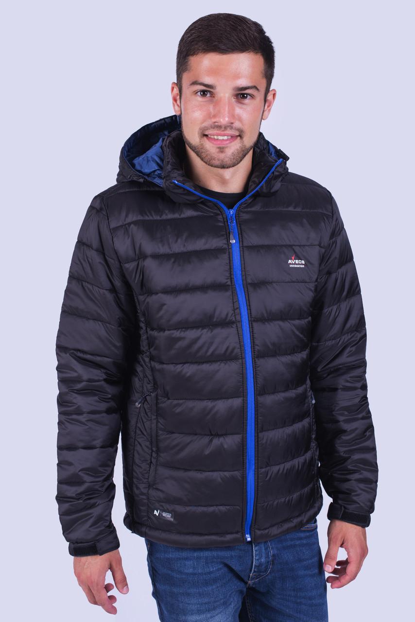 Куртка ветровка мужская Avecs AV-02# Black Размеры XXL/52