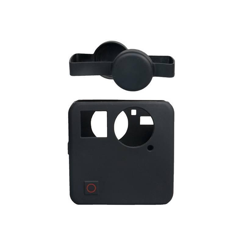 Силиконовый защитный чехол + крышки на объективы для GoPro Fusion черный