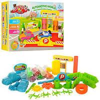 Набор для лепки заправочная станция 0663 (пластилин для лепке): 8 цветов, 22 предмета