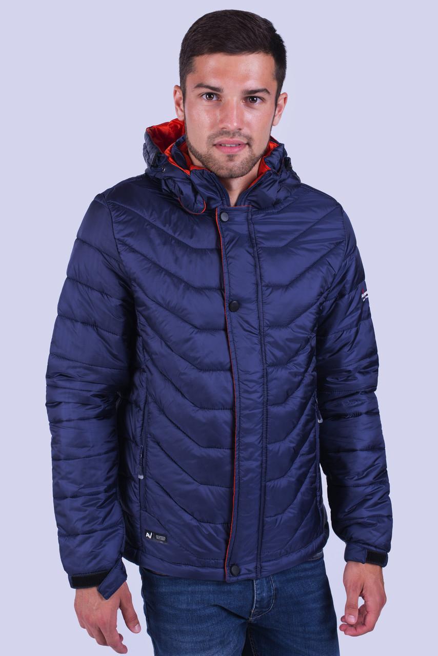 Куртка ветровка мужская синяя Avecs AV-03# Blue Размеры M/46