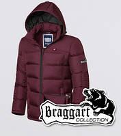Куртка мужская с мехом на подкладке зимняя Braggart 3733 темно-бордовая