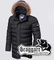 Куртка зимняя мужская с мехом на подкладке Braggart 2372 графит