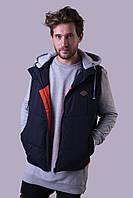 Жилет куртка мужской Avecs AV-70130 Dark blue двухсторонний Авекс Размеры M L XL XXXL