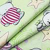 Детский комплект с прост. на резинке Панда зелен.