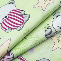 Детский комплект с прост. на резинке Панда зелен., фото 1