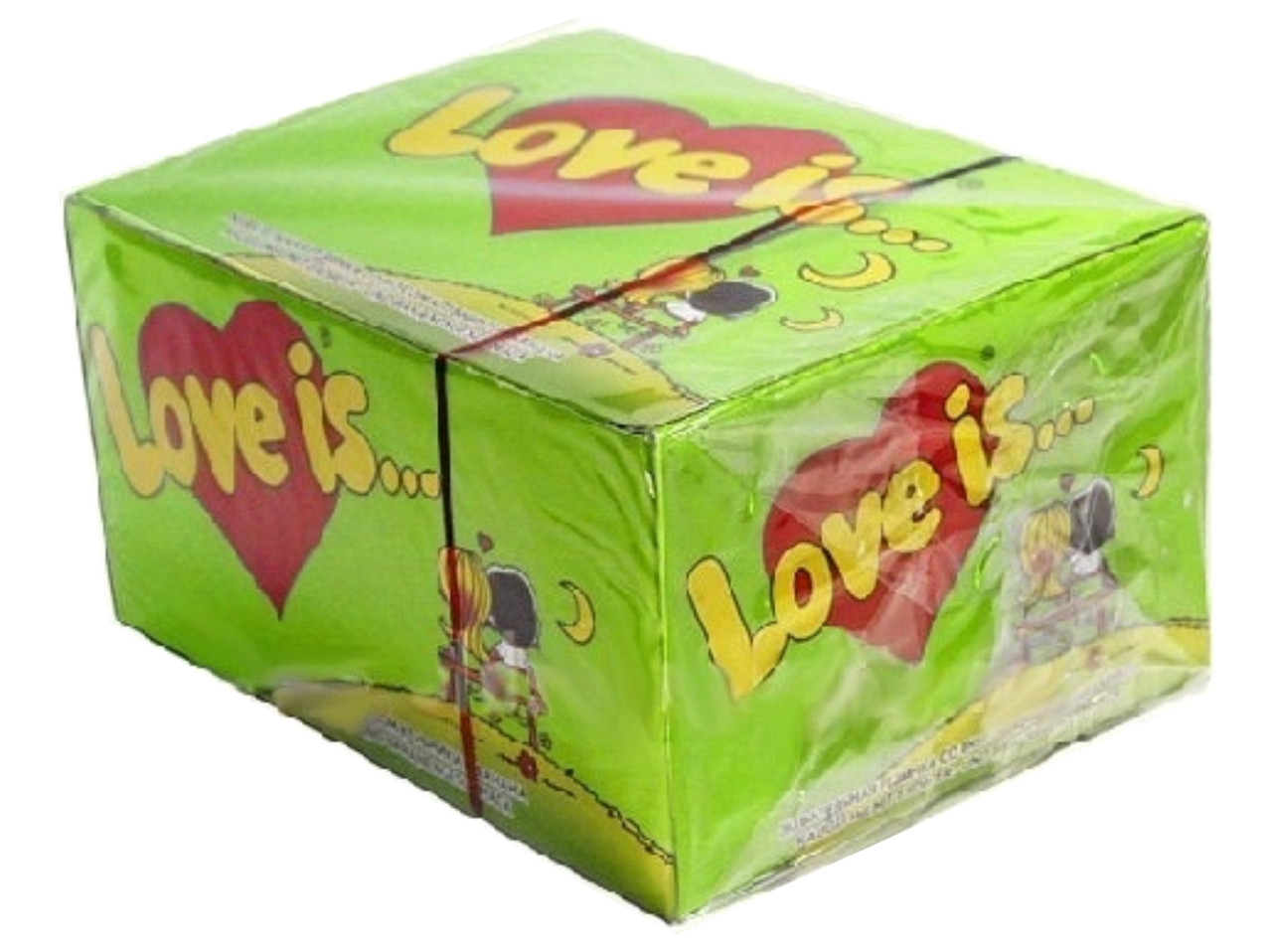 "Блок жвачек ""Love is""  яблоко - лимон, фото 1"