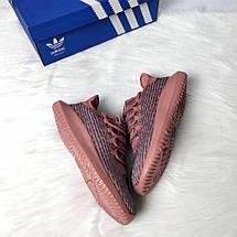 Женские кроссовки Adidas tubular pink gold, фото 3