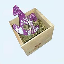 Игрушка деревянная  -подвеска (в ящичке)