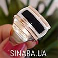 Мужской серебряный перстень - Мужское кольцо с ониксом серебро, фото 8