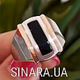 Мужской серебряный перстень - Мужское кольцо с ониксом серебро, фото 7