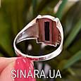 Мужской серебряный перстень - Мужское кольцо с ониксом серебро, фото 5