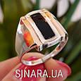 Мужской серебряный перстень - Мужское кольцо с ониксом серебро, фото 2
