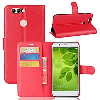 Чехол книжка для Huawei Nova 2  Красный