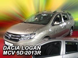Дефлекторы окон (ветровики)  Renault Logan 2013->  5D combi 4шт (Heko)