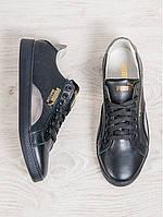 Кеды женские кожаные Puma Match (реплика) черные